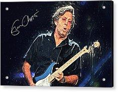 Eric Clapton Acrylic Print by Taylan Apukovska