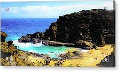 Eternity Beach - Oahu, Hawaii Acrylic Print by D Davila