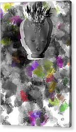 Exploding Head Acrylic Print