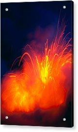 Exploding Lava Acrylic Print by Greg Vaughn - Printscapes