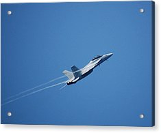 F-18 Hornet Acrylic Print by Wayne Higgs