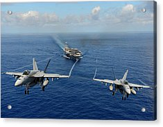 F A-18 Hornets Us Navy Acrylic Print by Celestial Images