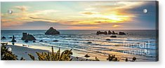 Face Rock At Sunset Acrylic Print