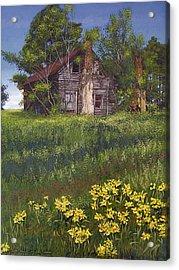 Fairplay Farmhouse Acrylic Print by Peter Muzyka