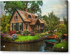 Fairytale House. Giethoorn. Venice Of The North Acrylic Print