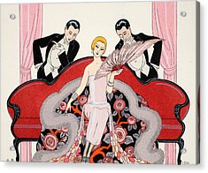 Falbalas Et Fanfreluches Acrylic Print by Georges Barbier