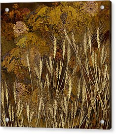Fall Garden Acrylic Print by Jeff Burgess