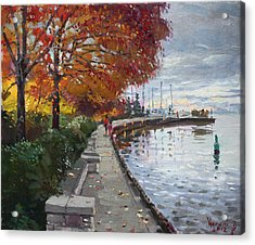 Fall In Port Credit On Acrylic Print by Ylli Haruni