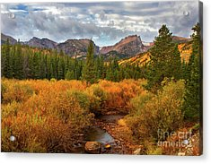Fall In Rocky Mountain National Park Acrylic Print by Ronda Kimbrow