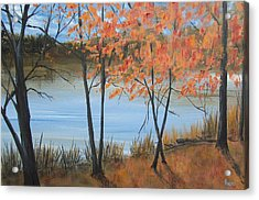 Fall N Lake Acrylic Print by Pete Maier