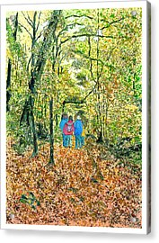 Acrylic Print featuring the painting Fall Nymphs  by Joel Deutsch