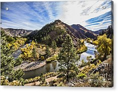 Fall On The Poudre Acrylic Print by Keith Ducker