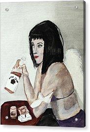 Fallen Angel Acrylic Print by Cathy Jourdan