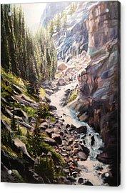 Falls Below Rimrock Lake Acrylic Print