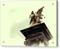 Fames Restraining Pegasus Sculpture Acrylic Print by JAMART Photography