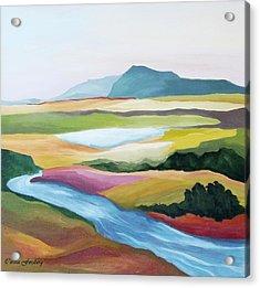 Fantasy Landscape Acrylic Print by Carola Ann-Margret Forsberg