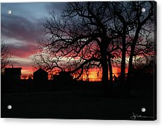 Farm Sunrise Acrylic Print