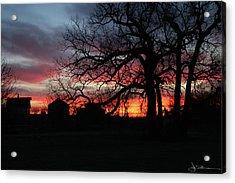 Farm Sunrise Acrylic Print