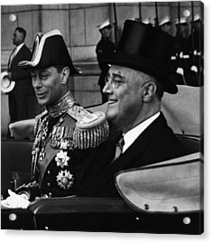 Fdr Presidency. King George Vi Acrylic Print by Everett