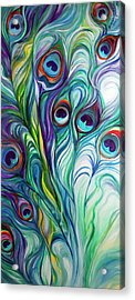 Feathers Peacock Abstract Acrylic Print