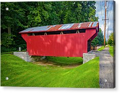 Feedwire Covered Bridge - Carillon Park Dayton Ohio Acrylic Print by Jack R Perry