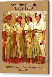 Female Security Guards Acrylic Print by Dean Gleisberg
