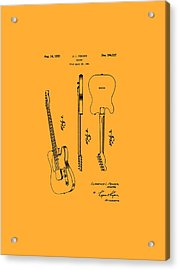 Fender 1951 Electric Guitar Patent Art - B  Acrylic Print