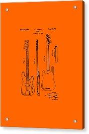 Fender Bass Guitar Patent-1953 Acrylic Print