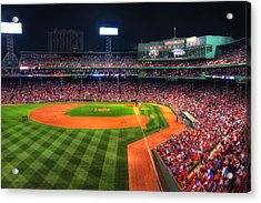 Fenway Park At Night - Boston Acrylic Print
