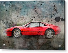 Acrylic Print featuring the photograph Ferrari 308 by Joel Witmeyer