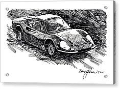 Ferrari Dino Acrylic Print by David Lloyd Glover