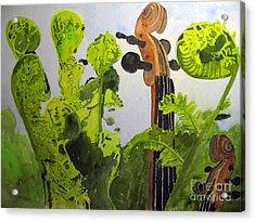 Fiddleheads Acrylic Print by Sandy McIntire