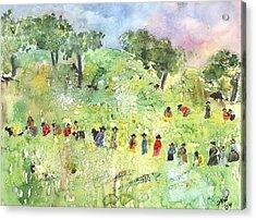 Field Workers Acrylic Print by Joyce Ann Burton-Sousa