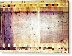 Film Frames  Acrylic Print by Les Cunliffe