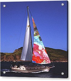Fine Art Sails Acrylic Print by Dan Cope