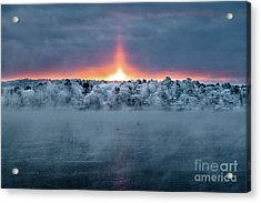 Fire And Ice Acrylic Print by Benjamin Williamson