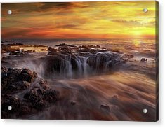 Fire And Water Acrylic Print by David Gn