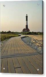 Fire Island Lighthouse Acrylic Print by Alexander Mendoza