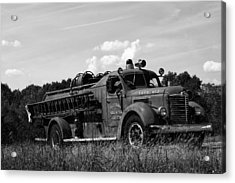 Fire Truck 2 Acrylic Print by Off The Beaten Path Photography - Andrew Alexander