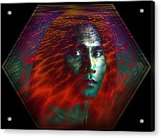 Acrylic Print featuring the digital art Fire Within by Shadowlea Is