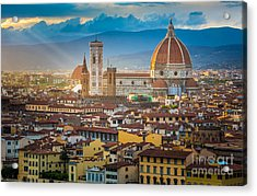 Firenze Duomo Acrylic Print by Inge Johnsson
