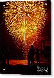 Fireworks Acrylic Print by Marc Bittan