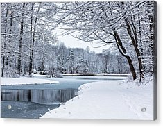 First Snow Acrylic Print by Everet Regal