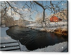 First Snow Acrylic Print by William A Lopez