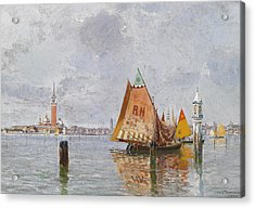Fishing Boats In The Lagoon Of Venice Acrylic Print by Carlo Brancaccio