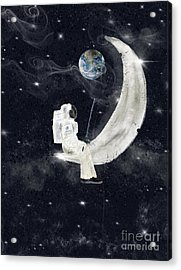 Acrylic Print featuring the painting Fishing For Stars by Bri B