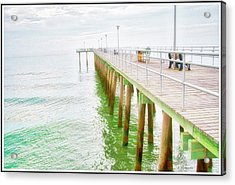Fishing Pier, Margate, New Jersey Acrylic Print