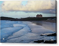 Acrylic Print featuring the photograph Fistral Beach by Nicholas Burningham