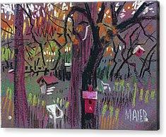 Five Birdhouses Acrylic Print by Donald Maier