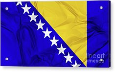 Flag Of Bosnia Acrylic Print